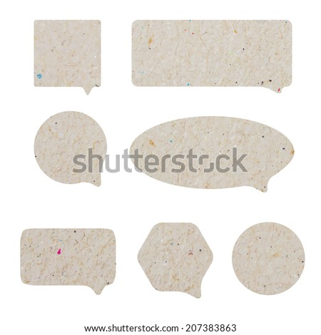 Blank empty white speech bubbles paper collection set isolated - stock vector