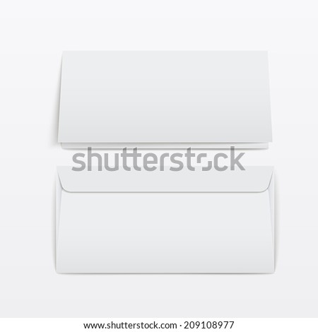 blank envelopes template isolated over white background - stock vector