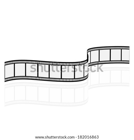 Blank film strip  - stock vector