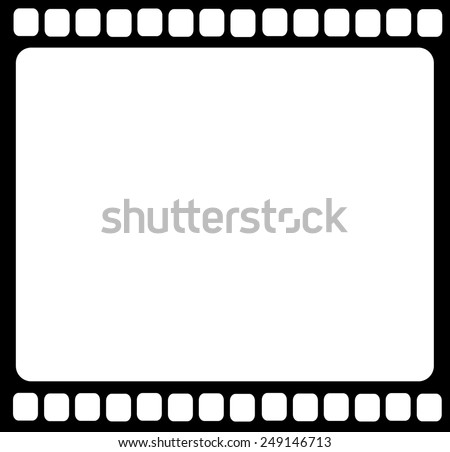 Blank film strip isolated vector - stock vector