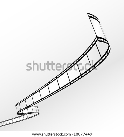 blank film strip - vector - stock vector