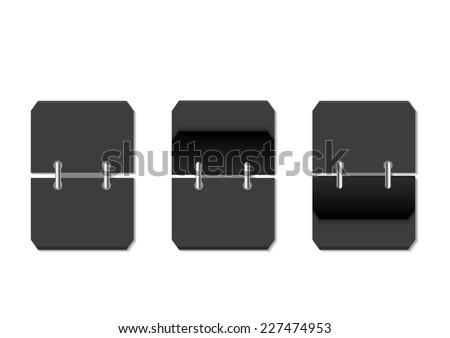 blank flip clock - stock vector
