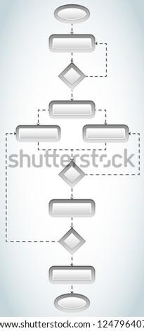 Blank flowchart - stock vector
