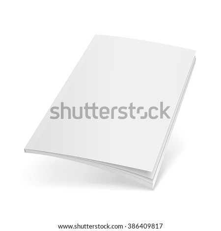 Blank Flying Cover Of Magazine, Book, Booklet, Brochure. Illustration Isolated On White Background. Mock Up Template Ready For Your Design. Vector EPS10 - stock vector
