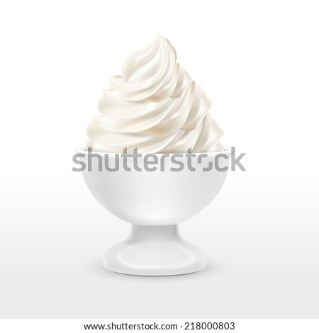 blank food container with milk ice cream isolated over white background - stock vector