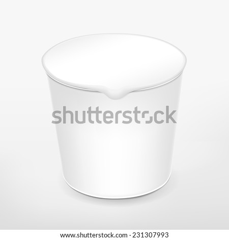 blank food cup package isolated on white background  - stock vector
