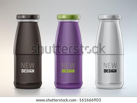 blank glass bottle for new design - stock vector