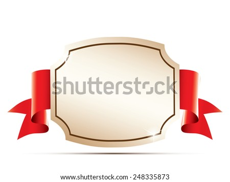 Blank gold label. - stock vector
