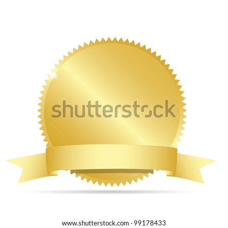Blank gold label. Vector - stock vector
