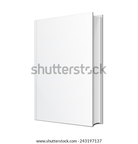 Blank Hardcover Book Illustration Isolated On White Background. Mock Up Template Ready For Your Design. Vector EPS10 - stock vector
