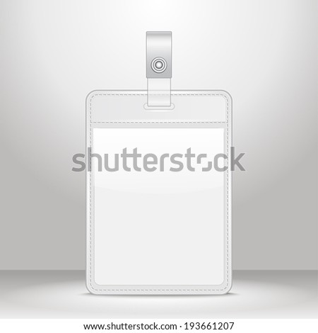 Blank identification card Badge ID template Vector Illustration  - stock vector