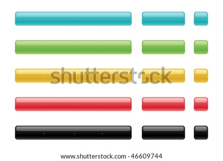 Blank internet buttons - stock vector
