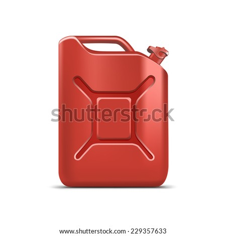 Blank Jerrycan Canister Gallon Oil Cleanser Detergent Abstergent Isolated - stock vector