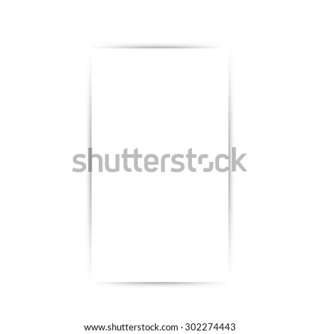 Blank magazine on white background - stock vector