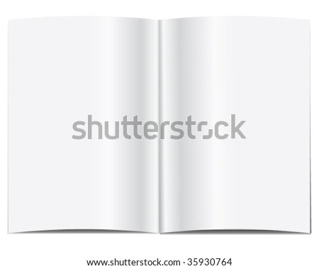 Blank magazine spread - stock vector