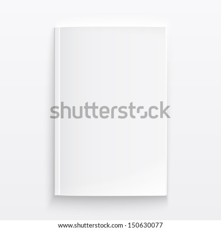 Blank magazine template on light background with soft shadows. Vector illustration. EPS10. - stock vector
