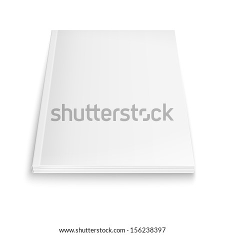 Blank magazine template on white background with soft shadows. Vector illustration. EPS10. - stock vector