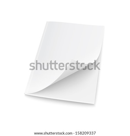 Blank magazine template with elevated cover. - stock vector