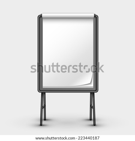blank metal sandwich board isolated on white - stock vector