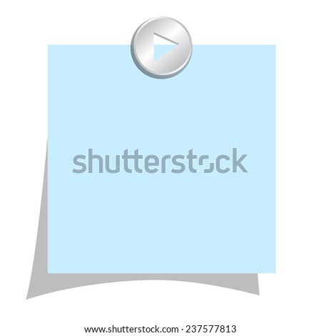 Blank note paper - stock vector