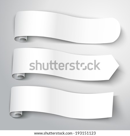 blank note paper with soft shadow isolated on white background - stock vector