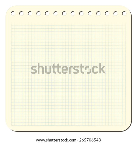 Blank notepad page background. EPS8 vector illustration. - stock vector