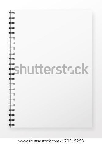 Blank Notepad without markup . EPS10 vector illustration. - stock vector
