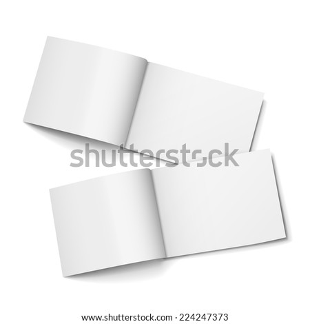 blank open magazines set isolated on white background - stock vector