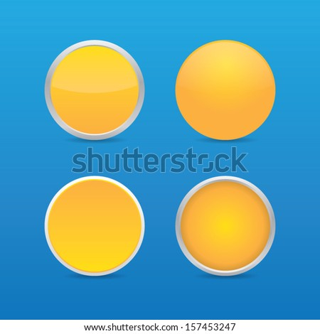 Blank Orange Round Icons - stock vector