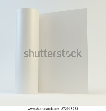 Blank page template for design layout. 3d vector illustration. A4 business blank. - stock vector