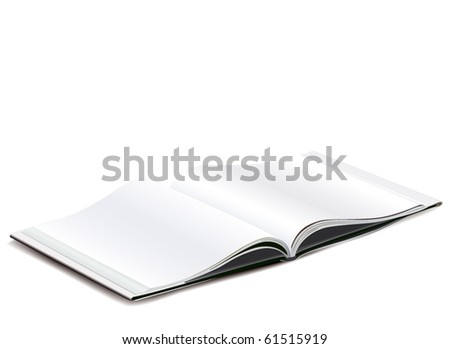 Blank pages spread - stock vector
