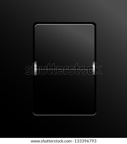 Blank panel on black background vector. - stock vector