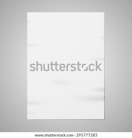 Blank paper - stock vector