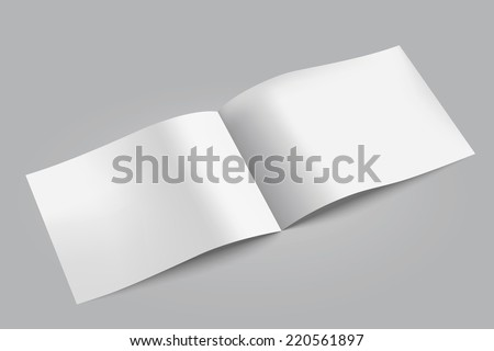Blank paper  brochure. Vector illustration. - stock vector