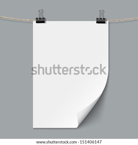 Blank paper sheet. Vector template - stock vector