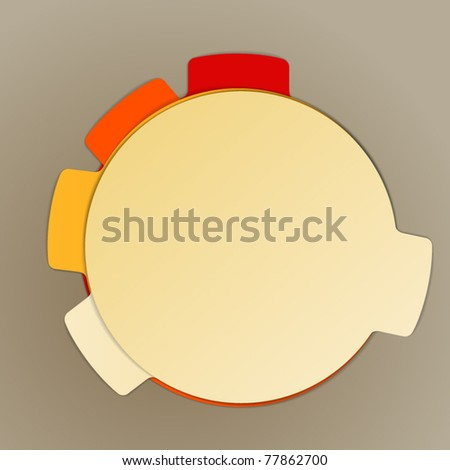 Blank paper sheets background - stock vector