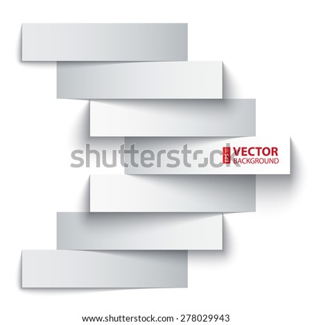 Blank paper stripe banners arrow on white background. RGB EPS 10 vector illustration - stock vector