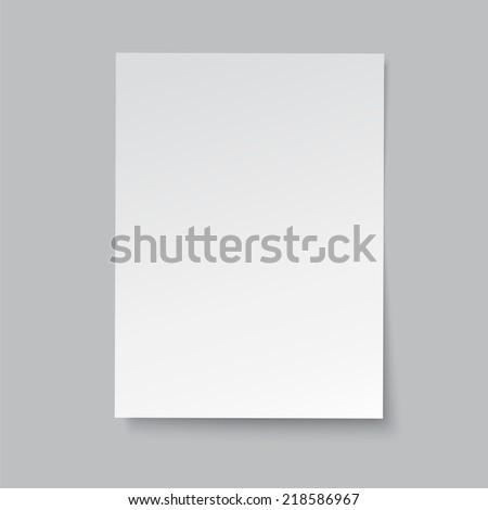 blank paper, vector illustration - stock vector