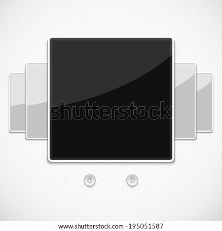 Blank photo frames for your photos. Vector illustration. - stock vector