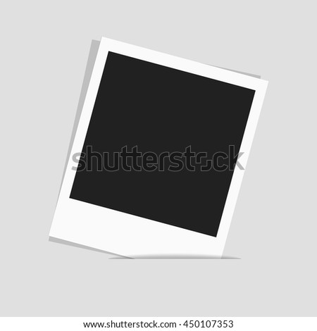 Blank photo polaroid frame, space for your photograph and picture. Isolated vector illustration on white background. - stock vector