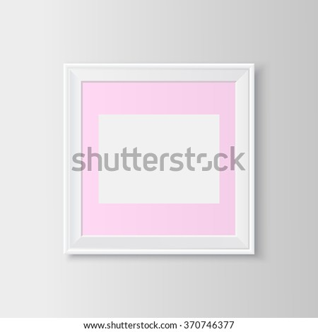 Blank picture frame. Useful template for presentations. Vector resizable illustration. - stock vector
