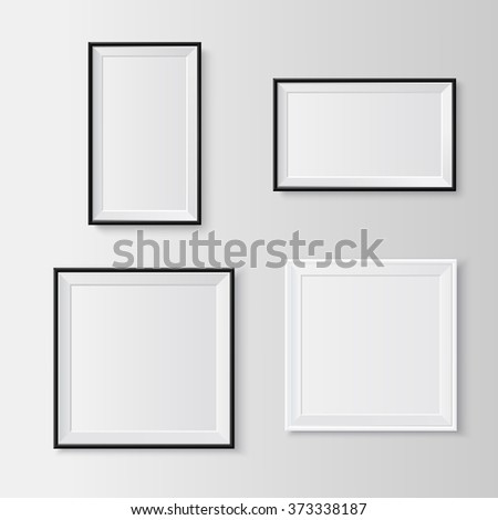 Blank picture frames set. Useful templates for presentations. Vector resizable illustration. - stock vector