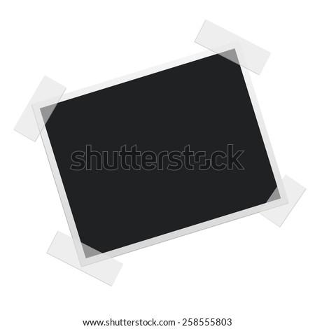 blank polaroid photo frame - stock vector