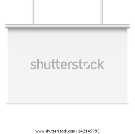 Blank presentation boards. - stock vector