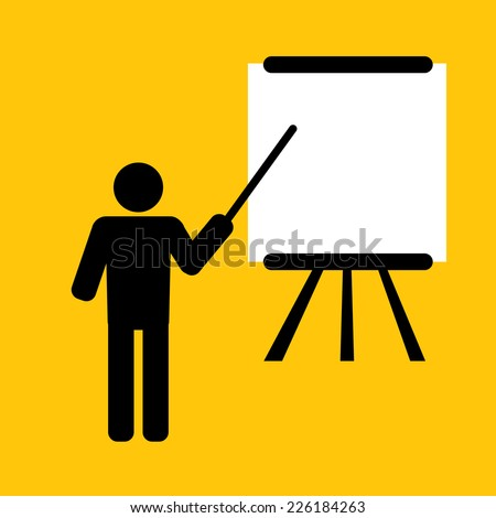 blank presentation for training or teaching  - stock vector