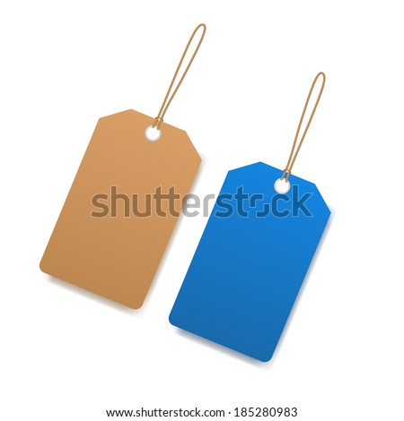 Blank price tag - stock vector