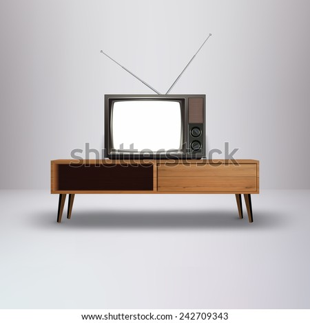 Blank Retro television Vector Illustration  - stock vector