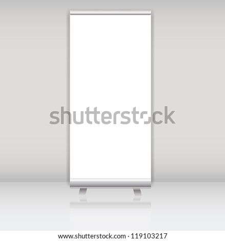 Blank roll up banner display template for designers vector illustration - stock vector
