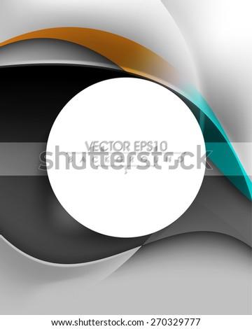 blank round white frame business elegant background eps10 vector  - stock vector