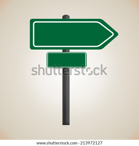 blank signs directions - stock vector